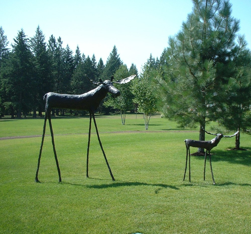 Moose 94 Inch Height & Moose 48 Inch Height - Columbia Falls MT